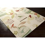 "Surya Rain Ivory (RAI-1126) Rectangle 3'0"" x 5'0"""