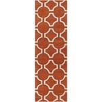 "Surya Jill Rosenwald Zuna Poppy Red (ZUN-1041) Rectangle 2'6"" x 8'0"""